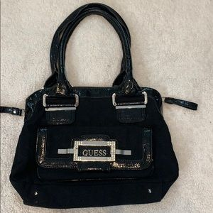 Guess Purse black with Rhinestones